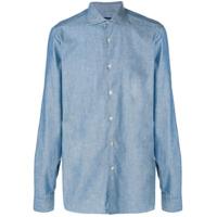 Borriello Camisa Jeans Com Botões - Azul