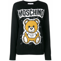 Moschino Suéter Com Estampa Do Urso Teddy - Preto