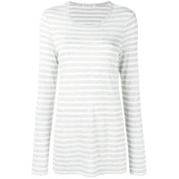 T By Alexander Wang Striped Long Sleeved T-Shirt - Cinza