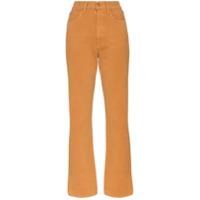 Slvrlake Calça Jeans Reta Cropped - Marrom