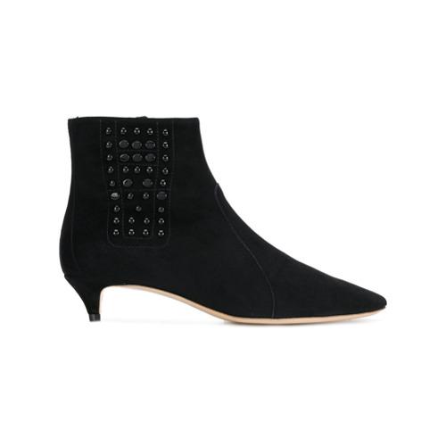 Imagem de Tod's Ankle boot de couro com aplicação - Preto
