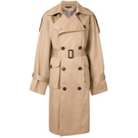 Blindness Trench Coat Oversized - Marrom