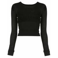 Wardrobe.nyc Camiseta Release Cropped - Preto