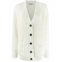 Katharine Hamnett London Bennie Button Up Cardigan - Branco