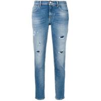 Jacob Cohen Calça Jeans Cropped - Azul