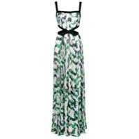 Tufi Duek Vestido Longo Estampado - Verde