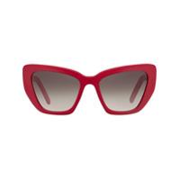 Prada Eyewear Óculos De Sol Postcard - Cinza