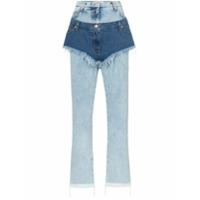Natasha Zinko High Waist Layered Shorts Jeans - Azul