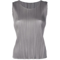 Pleats Please By Issey Miyake Micro Pleated Top - Cinza