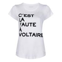Zadig&voltaire Camiseta C'est La Faute À Voltaire - Branco