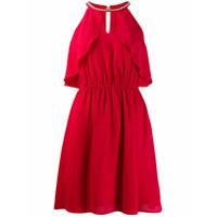 Liu Jo Vestido Preto Com Efeito De Brilho - Vermelho