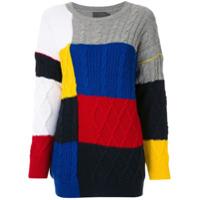 A.brand Blusa De Tricô Quadrados Coloridos - Estampado