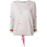 Autumn Cashmere Suéter De Cashmere Com Pompom - Cinza