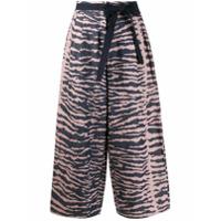 Odeeh Calça Pantalona Listrada - Azul