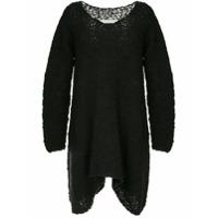 Uma Wang Suéter Oversized De Tricô - Preto