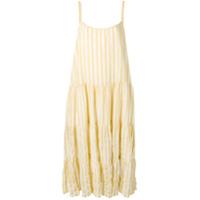 Sundress Vestido Margot Listrado - Amarelo