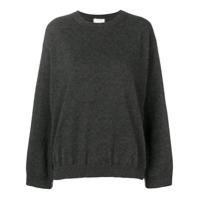 Fine Edge Classic Cashmere Sweater - Cinza