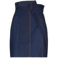 Situationist Saia Jeans Cintura Alta - Azul