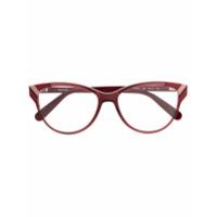 Salvatore Ferragamo Eyewear Armação De Óculos Gatinho - Vermelho