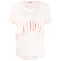 Parlor Camiseta Com Babado Frontal - Rosa