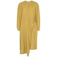 Low Classic Vestido Traspassado Com Abotoamento Assimétrico - Amarelo