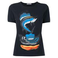 Jw Anderson Camiseta Com Estampa De Tubarão - Preto