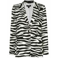 Rachel Zoe Blazer Com Estampa De Zebra - Preto