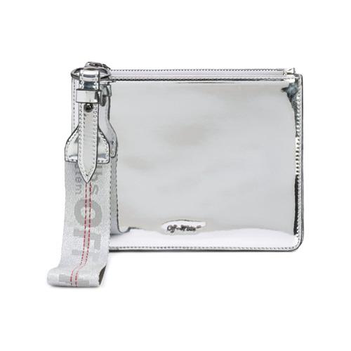 Imagem de Off-White Clutch espelhada com logo - Cinza