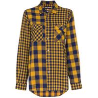 Double Rainbouu Oversized Check Shirt - Azul