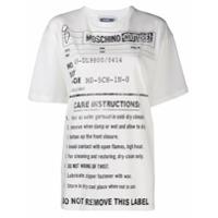 Moschino Camiseta Army Label - Branco