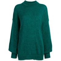 Fine Edge Suéter Decote Arredondado - Verde