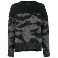 Diesel Suéter Com Recortes - Preto