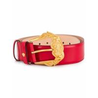 Versace Cinto Com Fivela Barocco - Vermelho