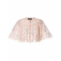 Needle & Thread Blusa Cropped Com Paetês - Rosa