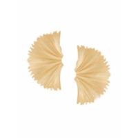 Meadowlark Par De Brincos 'vita' De Prata Banhada A Ouro - Metálico