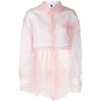 Facetasm Layered Button Shirt - Rosa