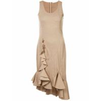 Givenchy Vestido Com Detalhe De Babado - Neutro