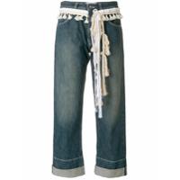 Loewe Calça Jeans Cropped - Azul