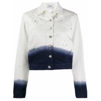 Miaou Paint Splatter Denim Jacket - Branco