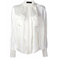 Alexandre Vauthier Camisa De Seda - Branco