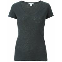 James Perse V-Neck T-Shirt - Cinza
