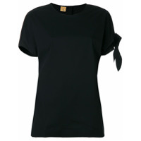 Fay Camiseta Com Tira Lateral - Preto