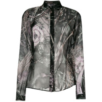 Just Cavalli Camisa De Seda 'new World' - Preto