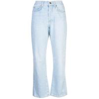 Eve Denim Calça Jeans Bootcut Cropped - Azul