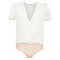 Nk Collection Body De Seda Com Lurex - Branco