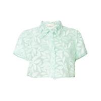 Mantu Blusa Com Renda Floral - Green