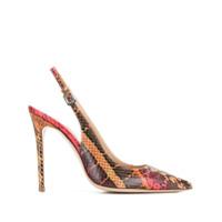 Deimille Sapato Com Efeito Pele De Cobra - Vermelho