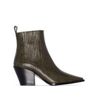 Aeyde Kate 80Mm Ankle Boots - Verde