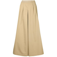 Huishan Zhang Cropped Wide-Leg Trousers - Marrom