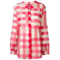 Sara Lanzi Camisa Xadez - Rosa
